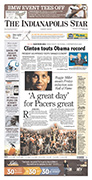 Indianapolis Star A1 on Sept. 6, 2012
