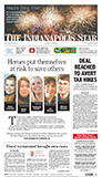 Indianapolis Star A1 on Jan. 1, 2013
